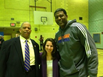 Pic with Knicks great Larry Johnson and Councilman Comrie